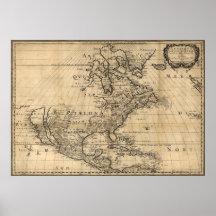 Amérique Septentrionale North America Map (1650) Poster
