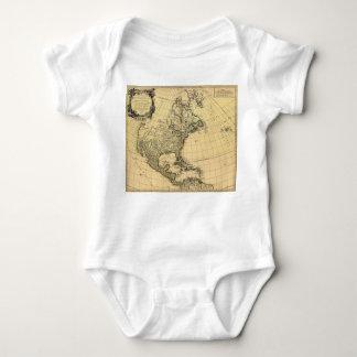 Amerique Septentrionale Robert de Vaugondy 1750 Baby Bodysuit