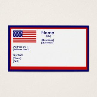 Amerrican Flag Business Card