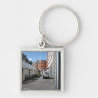 Amersfoort Silver-Colored Square Keychain