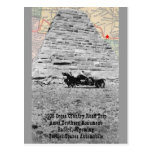 Ames Bros Monument with map 1908 road trip Postcard