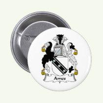 Ames Family Crest Button