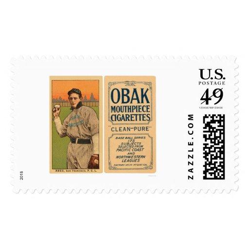 Ames San Francisco Baseball 1910 Stamps