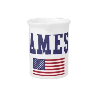 Ames US Flag Pitcher