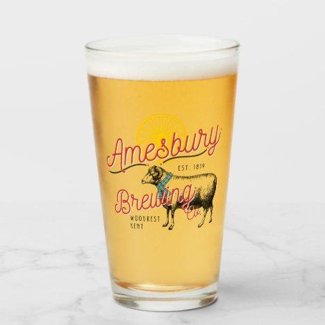 Amesbury Brewery Pint glass