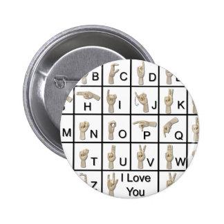 AmeslanAlphabet120710 2 Inch Round Button