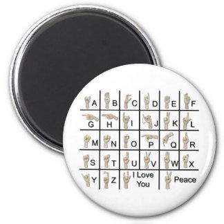 AmeslanAlphabet120710 2 Inch Round Magnet