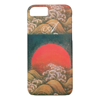 AMETERASU , SUN GODDESS red brown black iPhone 8/7 Case