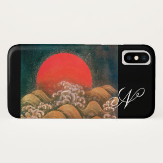 AMETERASU , SUN GODDESS red brown black iPhone X Case