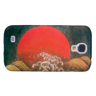 AMETERASU , SUN GODDESS red brown black Samsung Galaxy S4 Cover