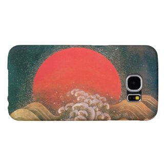 AMETERASU , SUN GODDESS red brown black Samsung Galaxy S6 Case