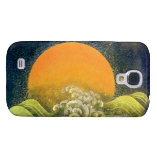 AMETERASU , SUN GODDESS yellow green black Samsung Galaxy S4 Case