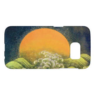 AMETERASU , SUN GODDESS yellow green black Samsung Galaxy S7 Case