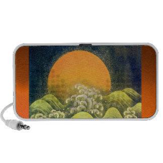 AMETERASU ,SUN GODDESS yellow orange green black Mini Speaker