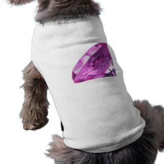 Amethyst 01, February, Birthstone Pet Tshirt