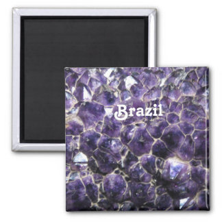 Amethyst 2 Inch Square Magnet