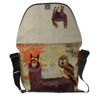 Amethyst  Alpaca & Mums Owl  Messenger Bag