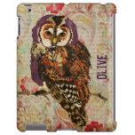 Amethyst & Amber Owl Floral  iPad Case