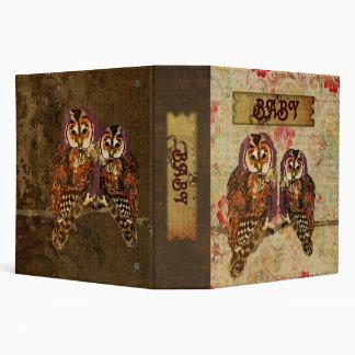 Amethyst & Amber  Owls Baby Book Vinyl Binder