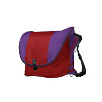 Amethyst and Barn Red Messenger Bag