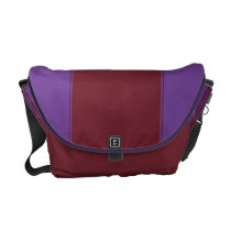Amethyst and Bordeaux Courier Bag