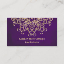 Amethyst and Gold Mandala Business Card