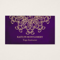 Amethyst And Gold Mandala Business Card at Zazzle