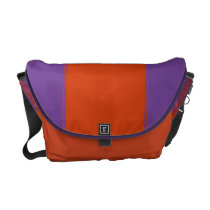 Amethyst and Mandarin Rbbonesque Messenger Bag