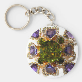 Amethyst and Peridot Keychain