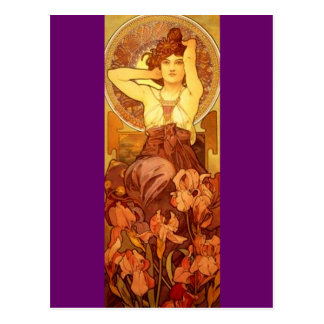 Amethyst - Art Nouveau Postcard