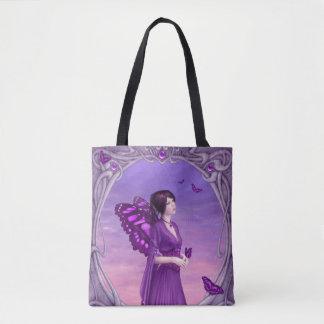 Amethyst Birthstone Fairy All-Over-Print Tote Bag