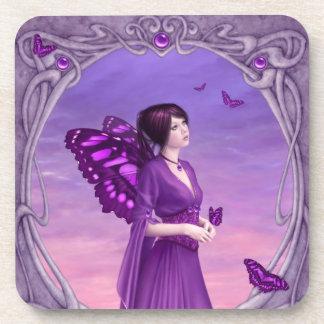 Amethyst Birthstone Fairy Coasters - Set of 6