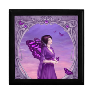 Amethyst Birthstone Fairy Keepsake Box