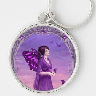Amethyst Birthstone Fairy Premium Keychain