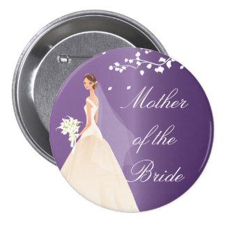 Amethyst Bride MOB Bridal Party  Button