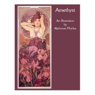 Amethyst by Alphonse Mucha Postcard