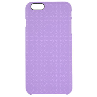 Amethyst calligraphic pattern clear iPhone 6 plus case
