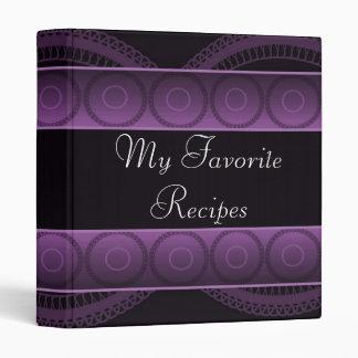 Amethyst Circles Recipe Book 3 Ring Binder
