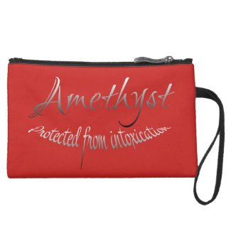 Amethyst Clucth Suede Wristlet Wallet