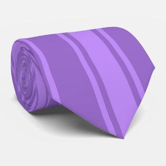 Amethyst Color Stripe Funky Pattern Tie