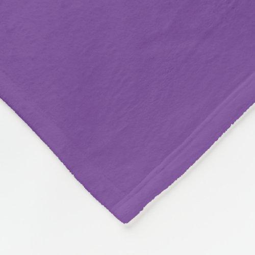 Amethyst-Colored Fleece Blanket