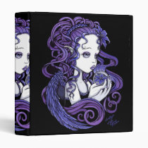 amethyst, purple, lilly, lillie, flower, blue, angel, gothic, myka, jelina, art, fairy, faery, faerie, fae, fairies, crystal, ball, magical, cute, big, eyed, angels, Binder with custom graphic design