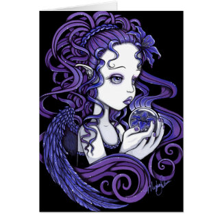 """Amethyst"" Crystal Ball Angel Art Card"