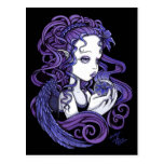 """Amethyst"" Crystal Ball Angel Art Postcard"