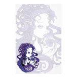 """""""Amethyst"""" Crystal Ball Angel Art Stationery"""