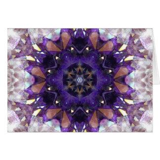 Amethyst Crystal Star Card