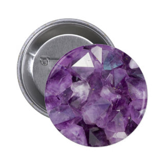 Amethyst Crystals Button