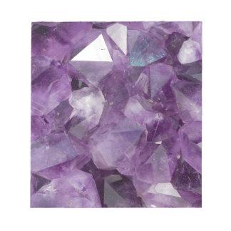 Amethyst Crystals Notepad