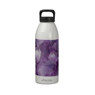 Amethyst Crystals Water Bottle