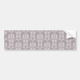 Amethyst Damask Bumper Sticker